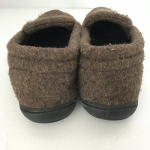 Acorn Shoes - ACORN Brown Wool Blend Slip On Moccasin Slippers